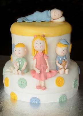 Gâteau shower de bébé garçon