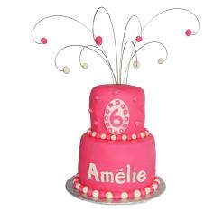Gâteau 2 étages pour fille