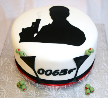 Gâteau James Bond