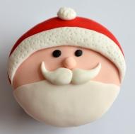 Cupcake à la vanille sur le thème du Père Noël