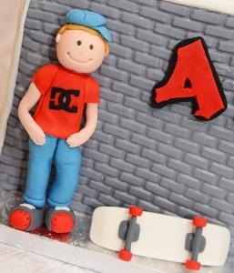 Personnage et Skateboard en pastillage